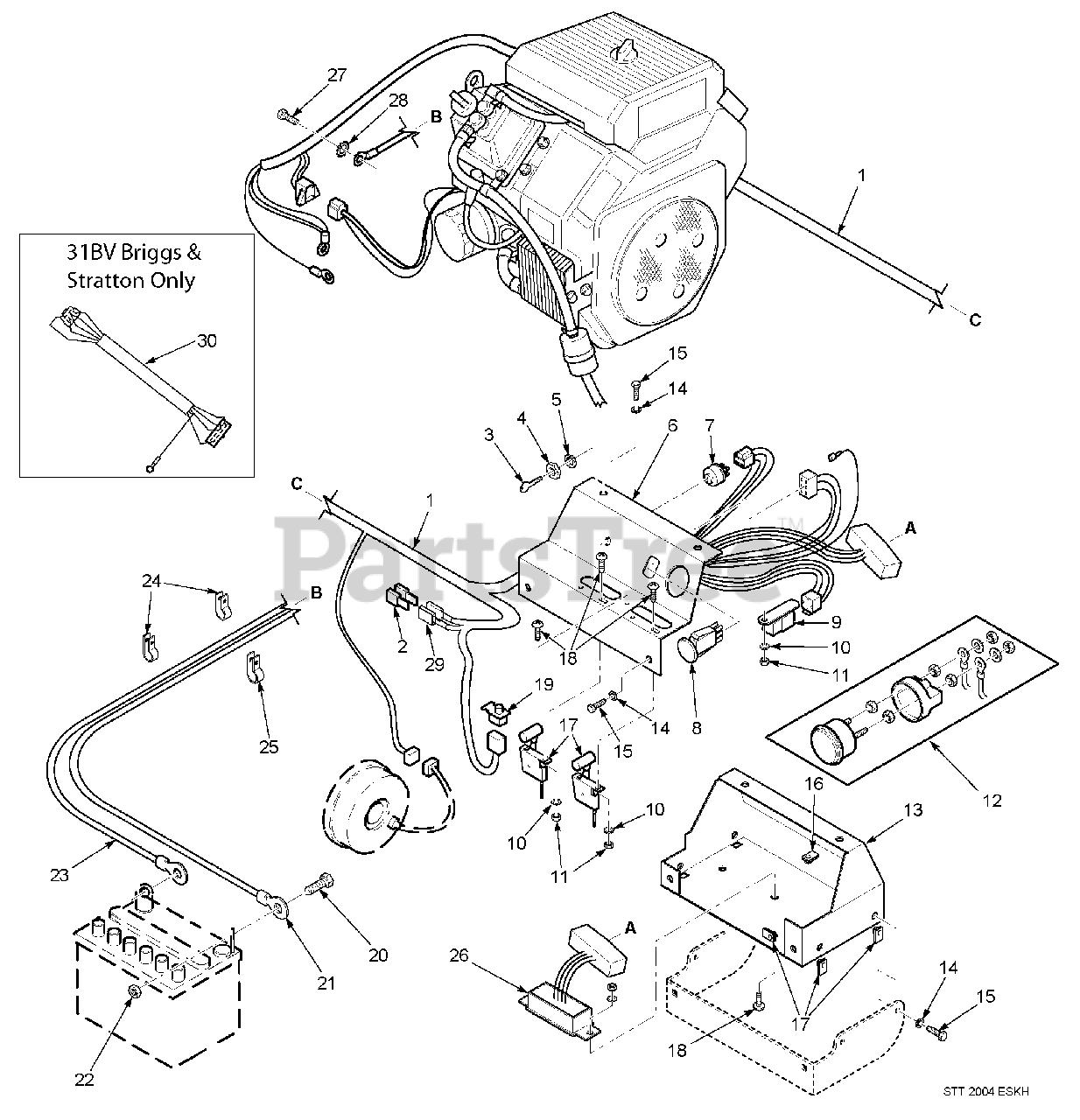 Scag Parts on the Electrical System (Kohler & 31BV