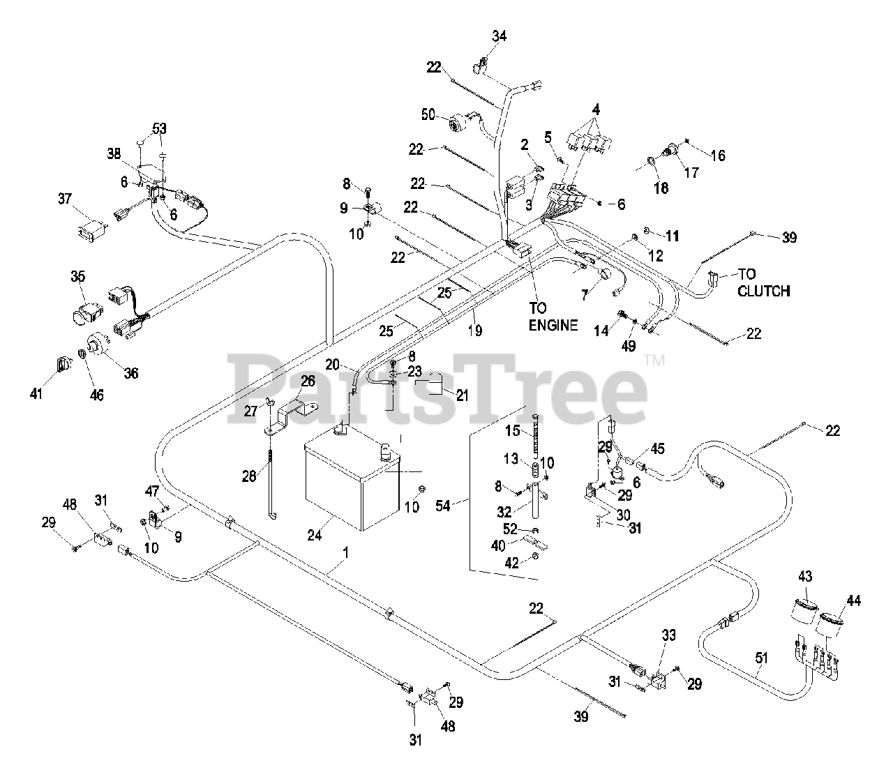Exmark Parts on the Kawasaki Electrical Group Diagram for