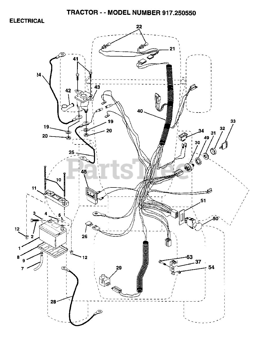 [DIAGRAM] Wiring Diagram Craftsman Garden Tractor 917