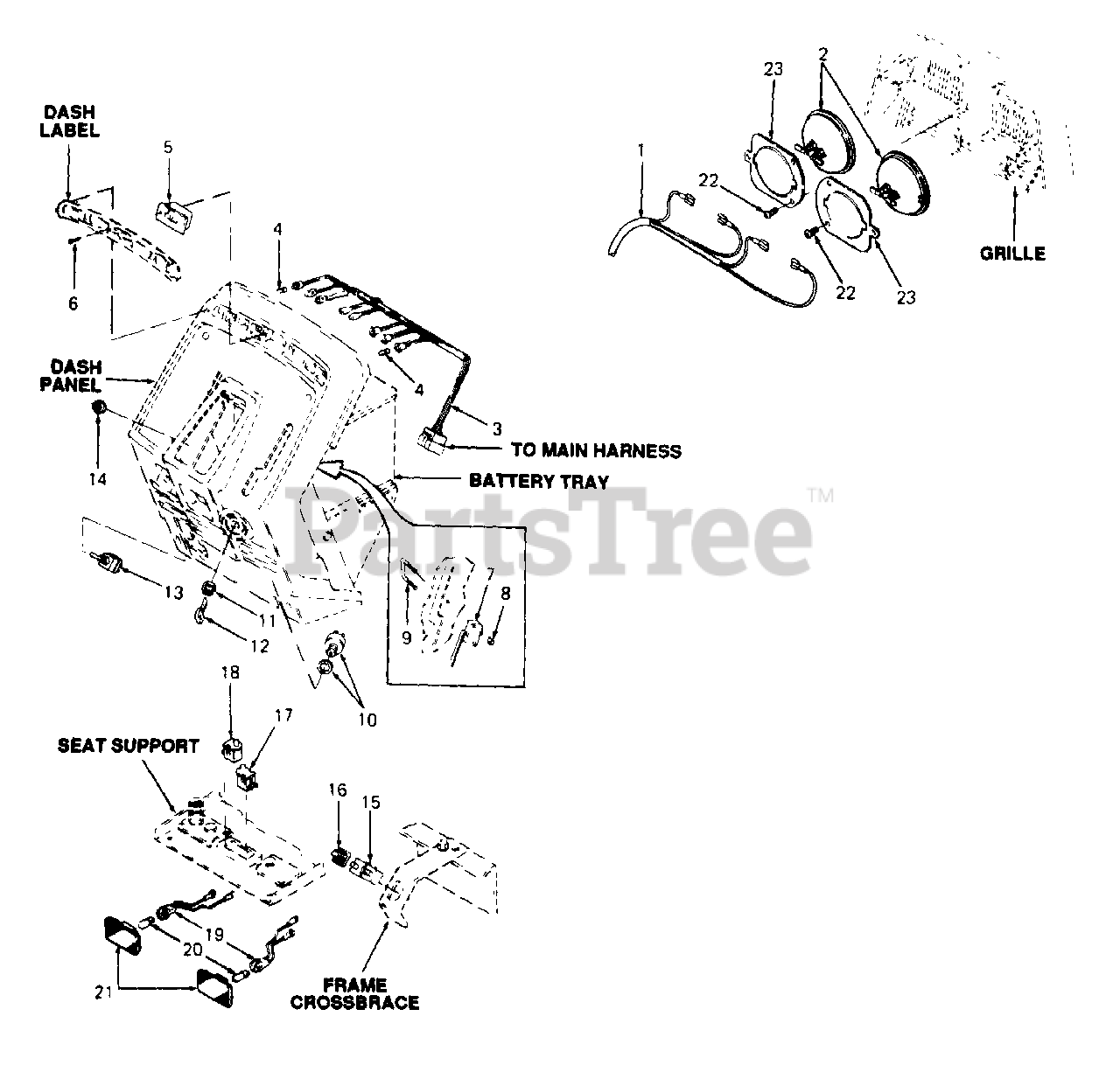 Cub Cadet Parts on the Electrical Diagram for 1641 (146