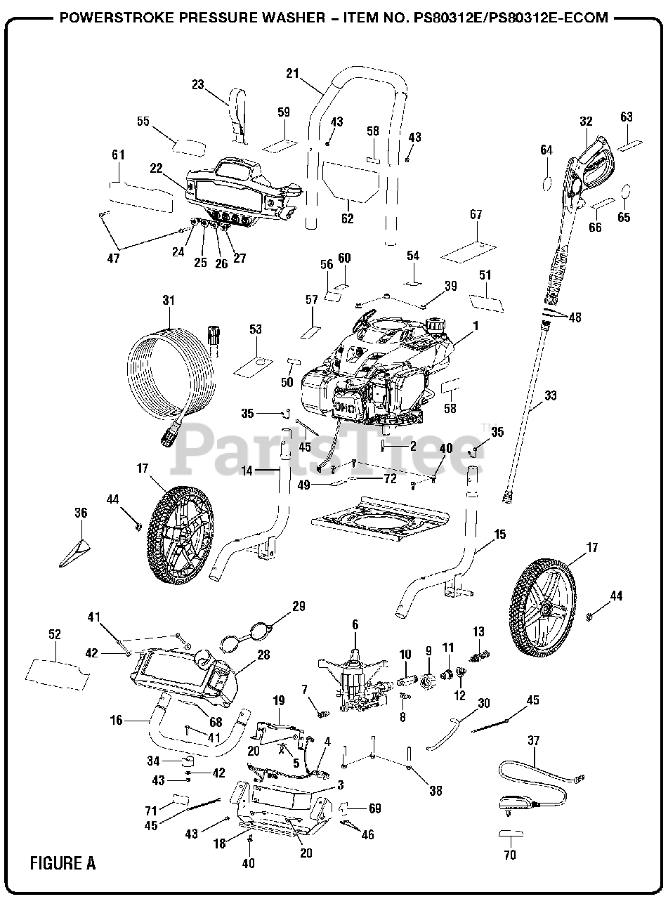 PowerStroke Parts on the Figure A Diagram for PS 80312 E