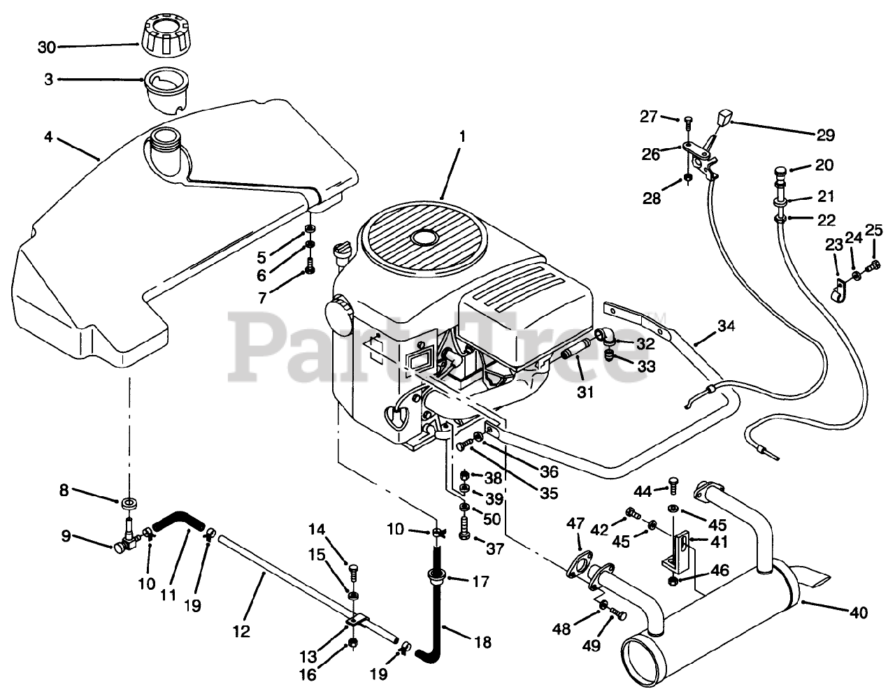 Toro Parts On The Engine Amp Fuel System Assembly Diagram
