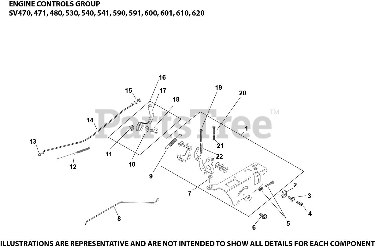 Kohler Parts on the Engine Controls 9-20-7 SV470-620