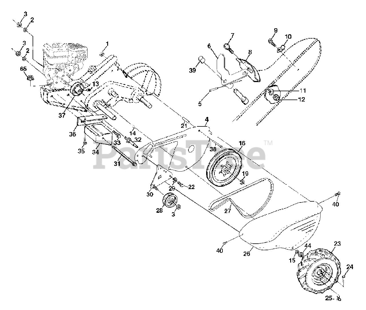 Craftsman Parts on the Mainframe, Left Side Diagram for