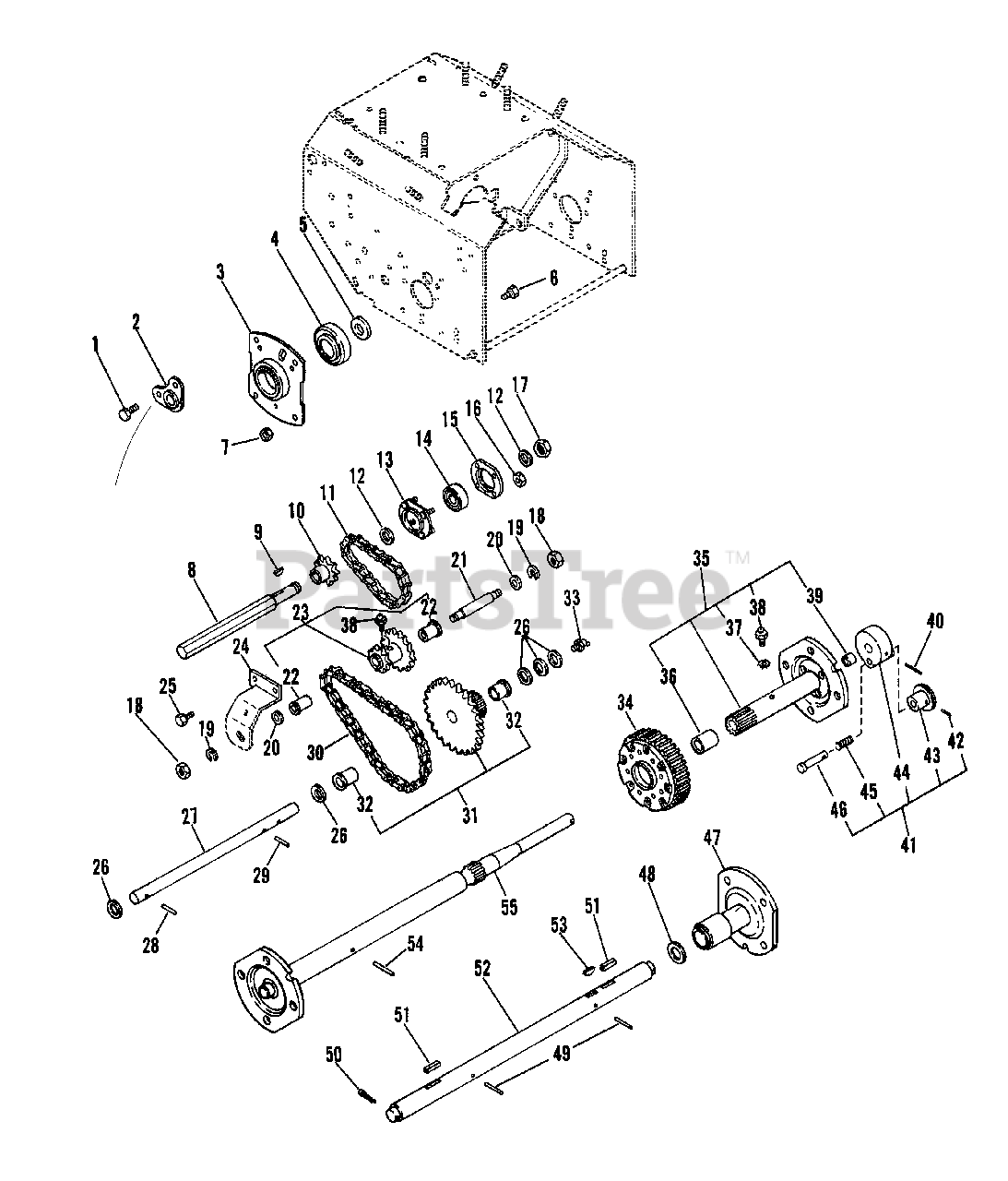 Ariens Parts on the Reduction Drive Diagram for 924050 (ST
