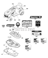 Snapper parts and diagrams for Snapper SPX 2548 (2691187
