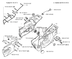Husqvarna parts and diagrams for Husqvarna 3120 K
