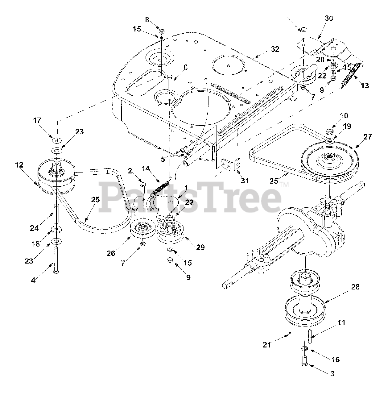 Cub Cadet Parts on the Drive, Variable Diagram for 1027