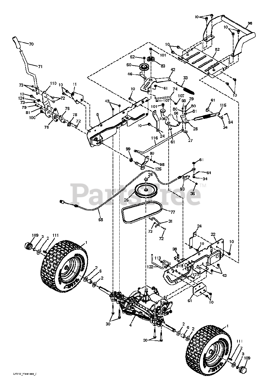 Poulan Pro Parts on the DRIVE Diagram for PB 30 (960220020