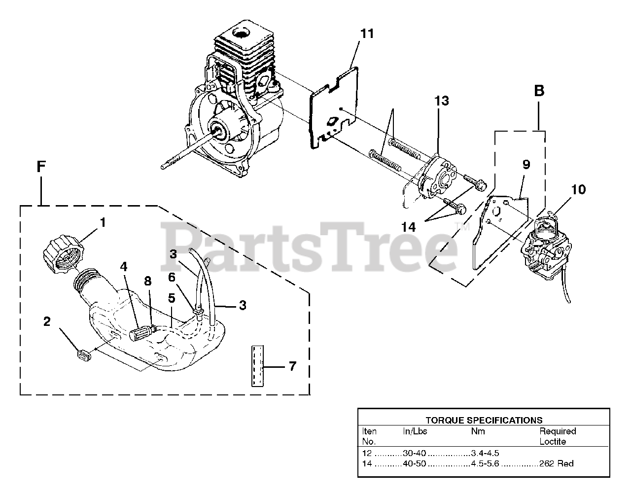 Homelite Parts On The Carburetor And Fuel Tank Diagram For