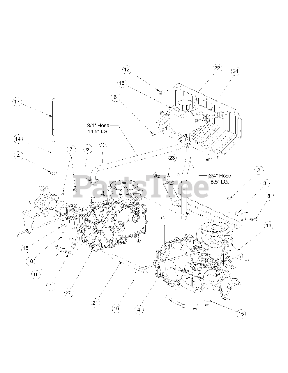 Cub Cadet Parts on the Drive Assembly (2005 & Before