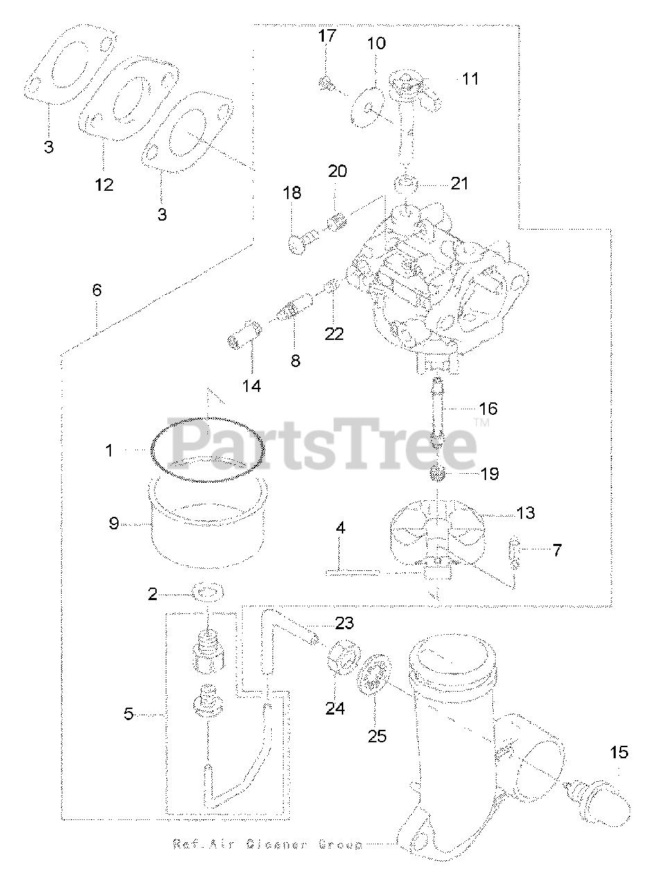 Cub Cadet Parts on the Carburetor Diagram for SRC 621 (12A