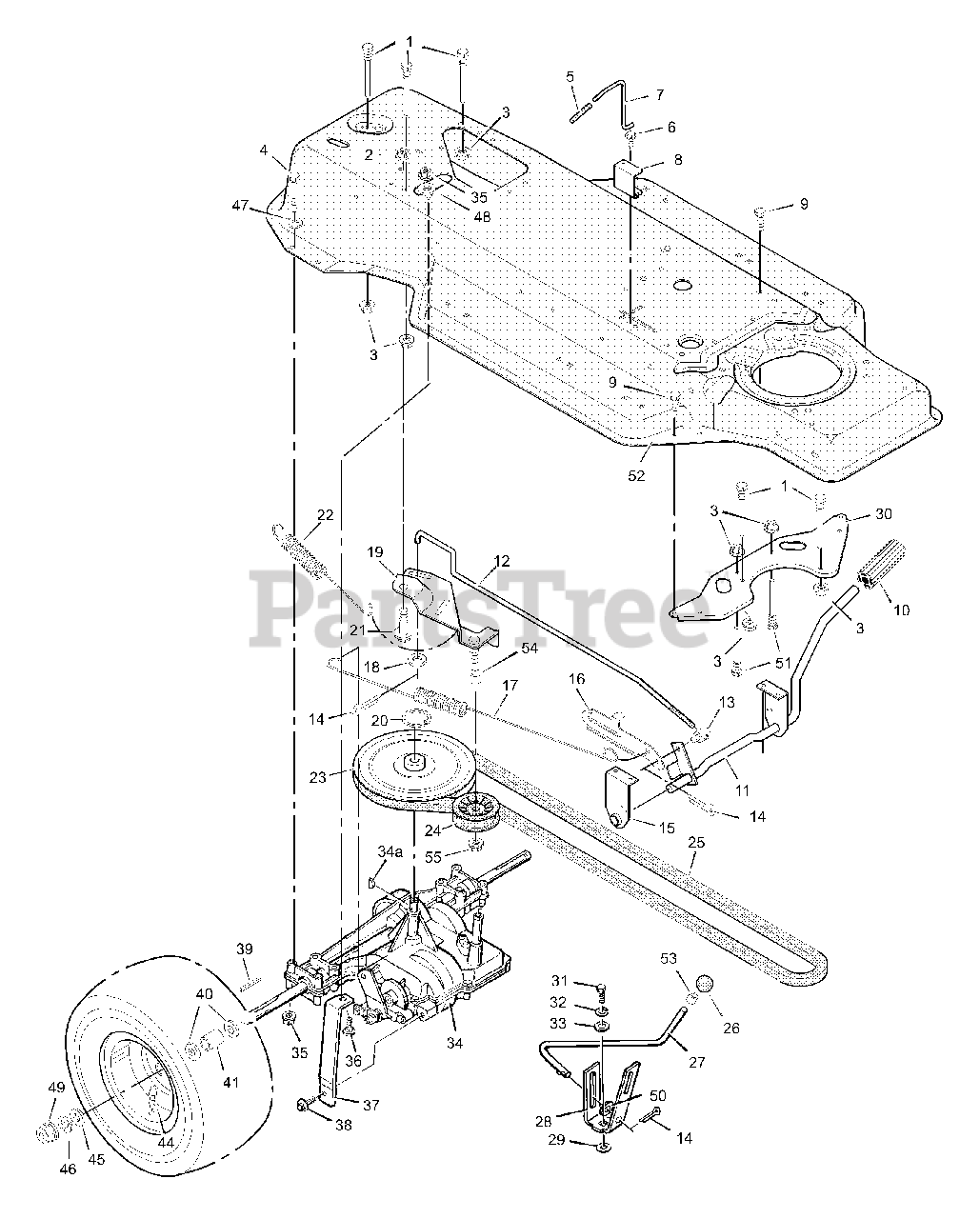Murray Parts on the Motion Drive Diagram for 387000x92A