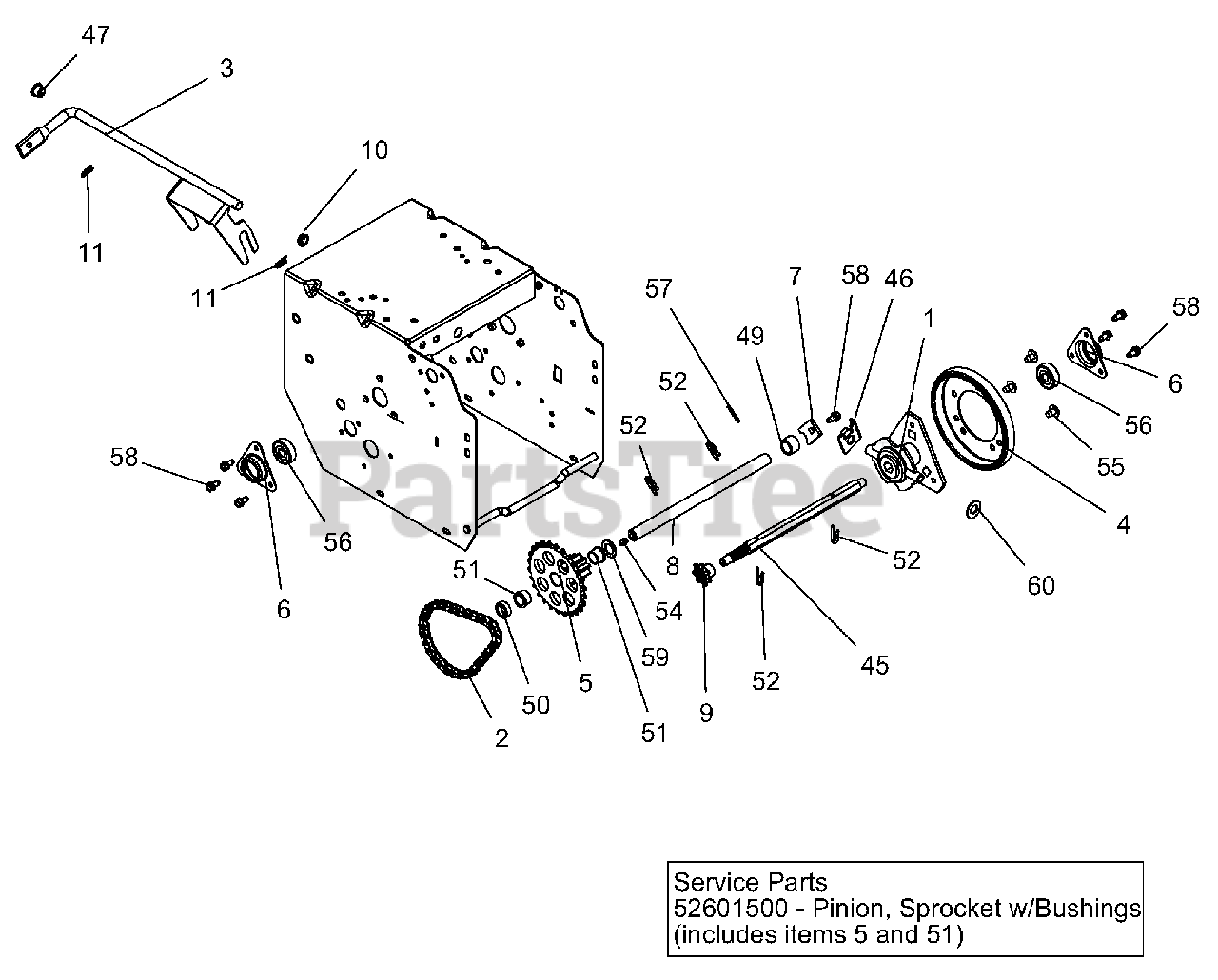Ariens Parts on the Friction Drive Diagram for 921030