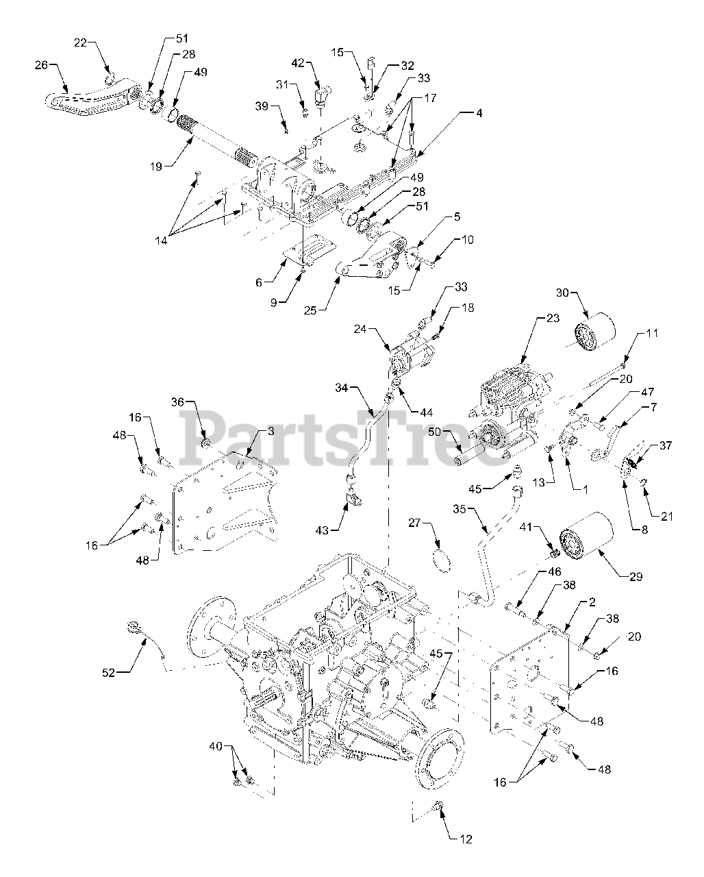 Cub Cadet Parts on the 4WD Transmission Diagram for 7254