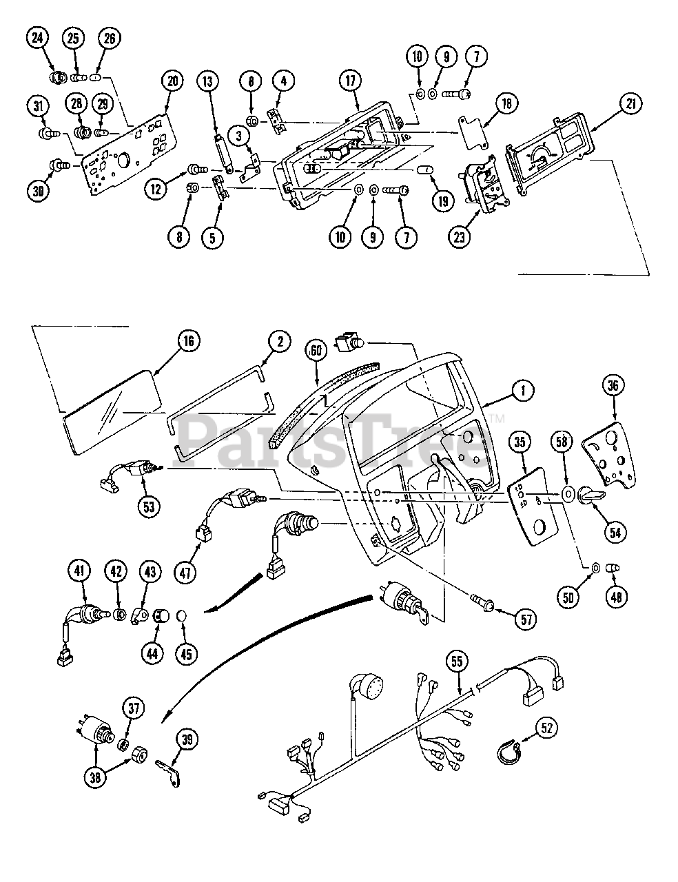 Cub Cadet Parts on the Electrical System (Panel Ass'y