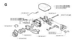 Jonsered parts and diagrams for Jonsered CS 2152