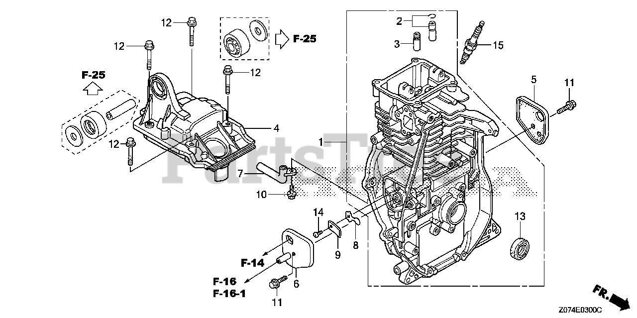 Honda Parts on the CYLINDER BARREL Diagram for EU2000i A