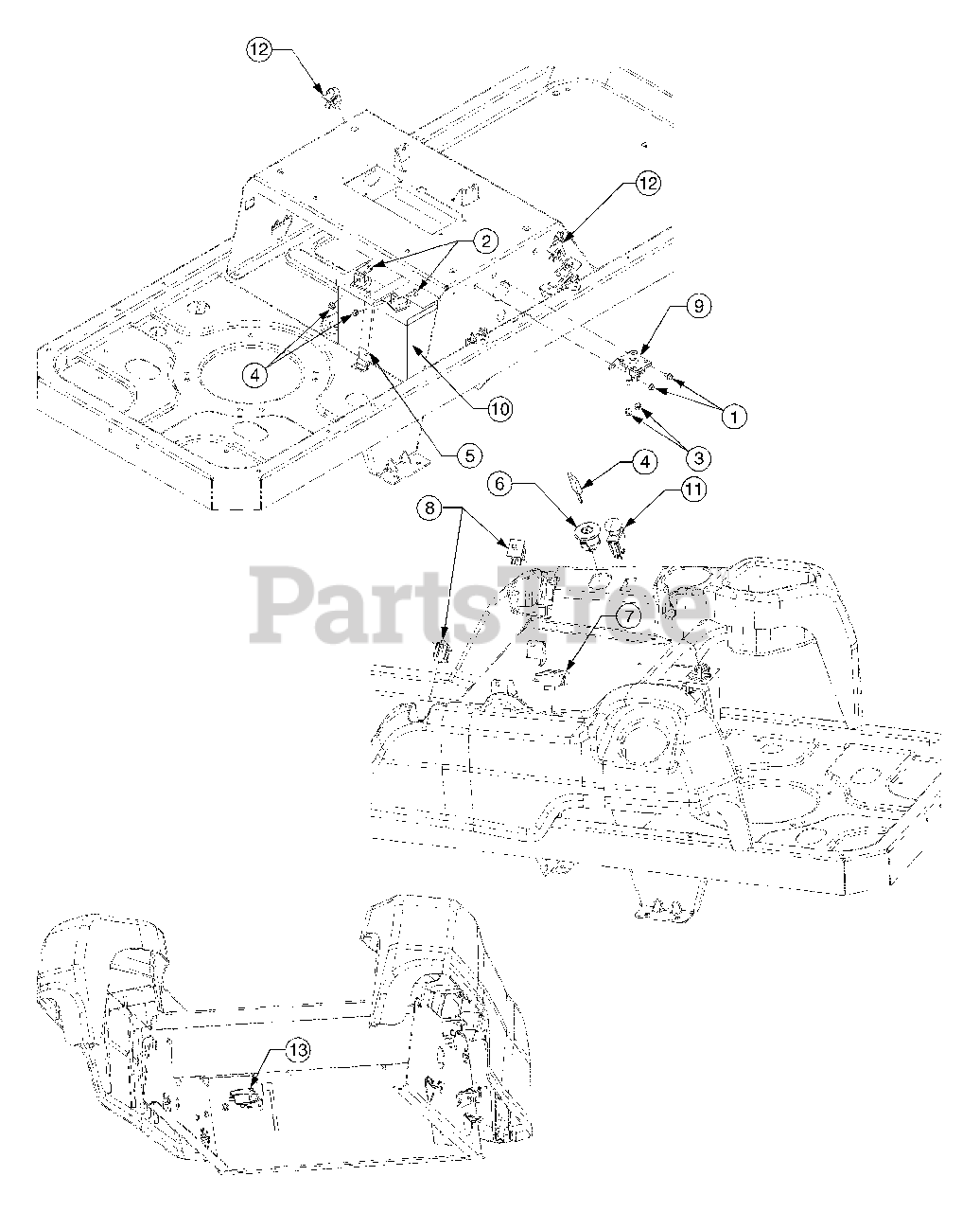 Cub Cadet Parts On The Electrical Diagram For Rzt 50