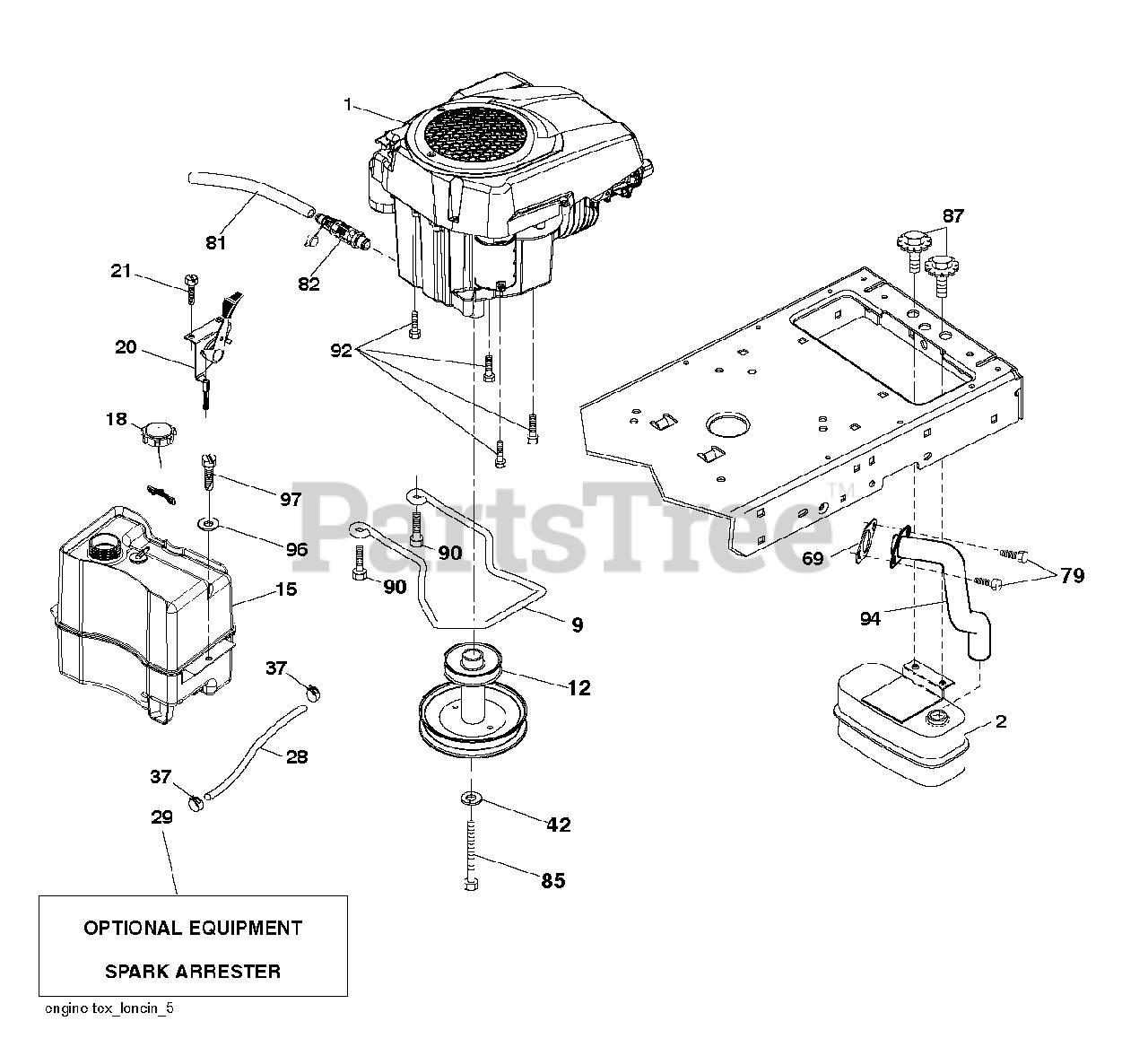 Husqvarna Parts On The Engine Diagram For Yth