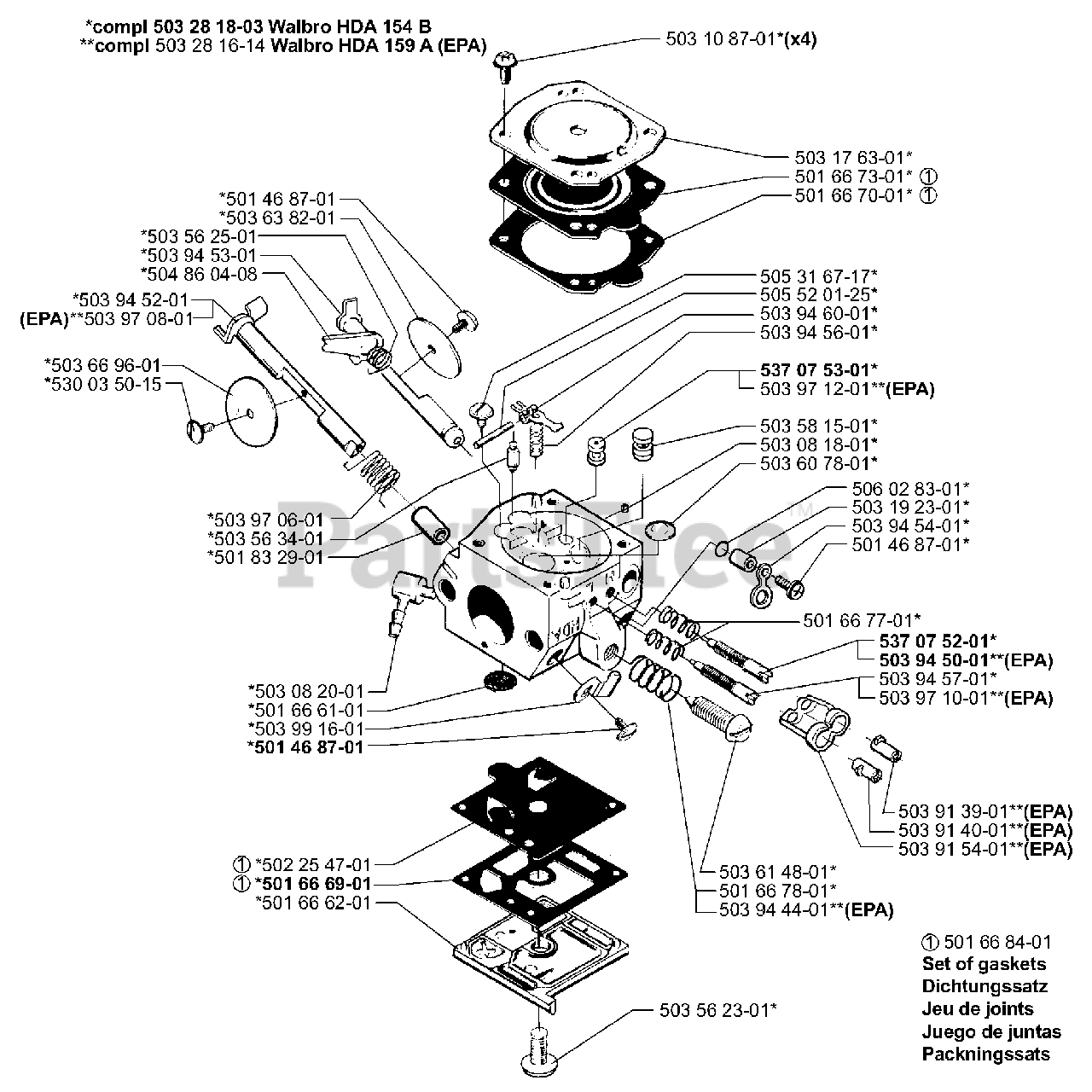 Husqvarna Parts On The Carburetor Parts Diagram For 350