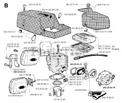 Jonsered parts and diagrams for Jonsered 670 CHAMP