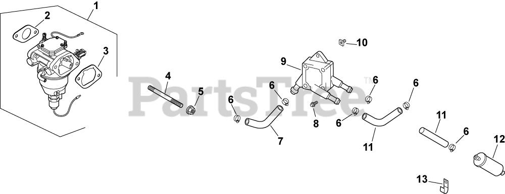 Kohler Parts on the Fuel System 8-24-593 Diagram for CV740