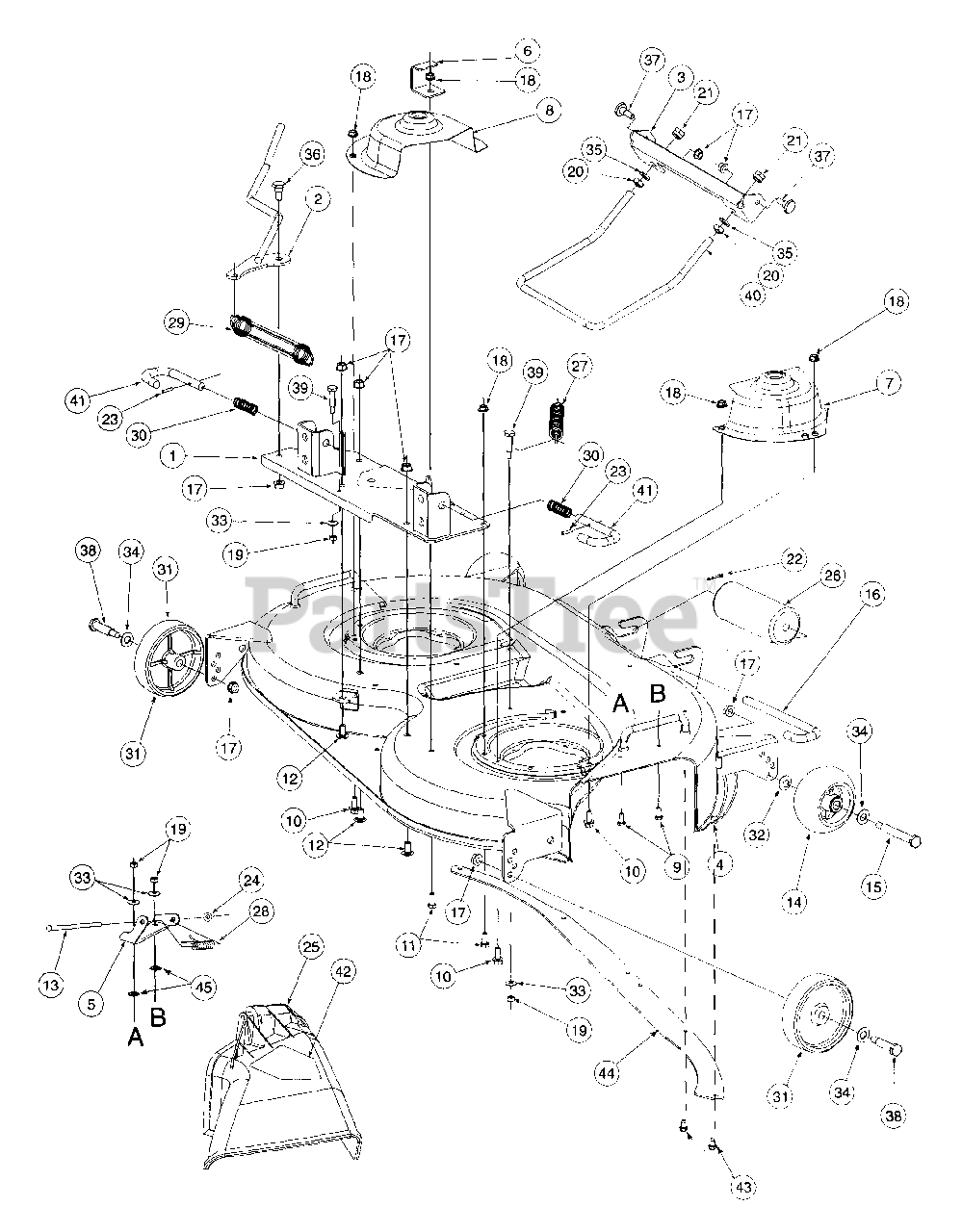 Cub Cadet Parts on the 42