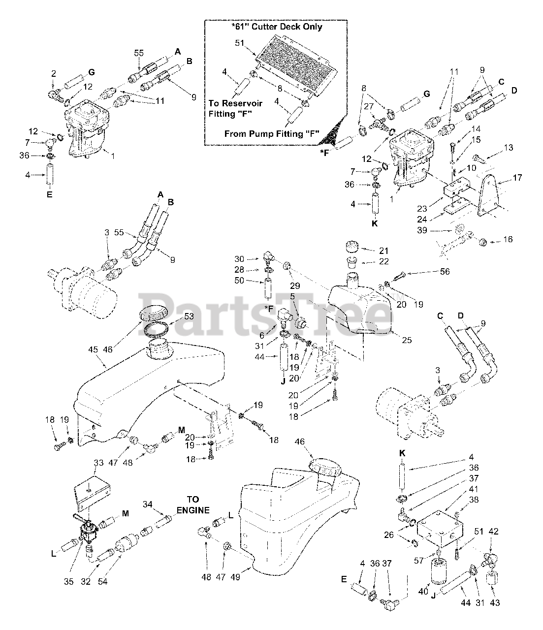 Scag Parts On The Fuel And Hydraulic System Diagram For