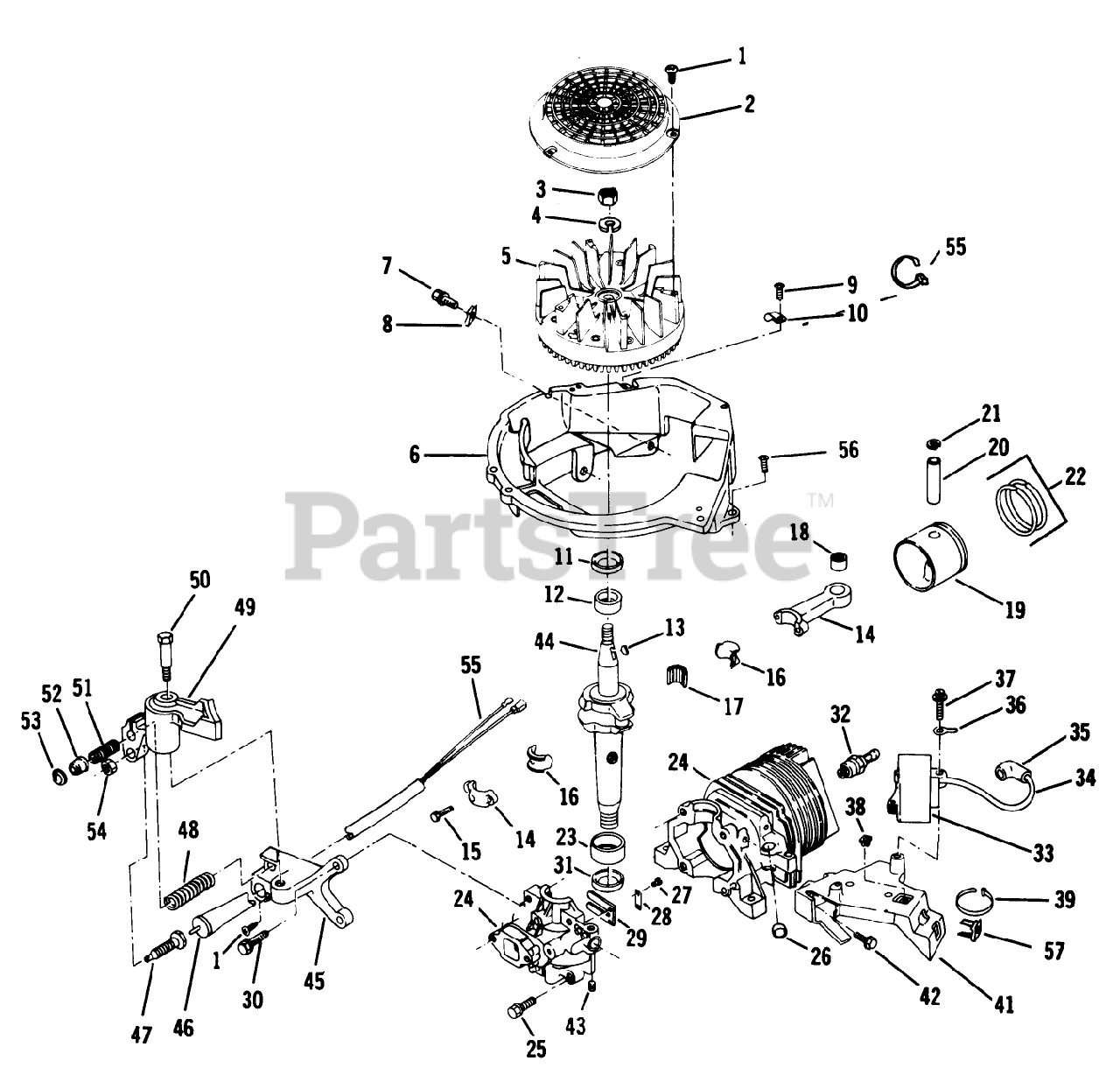 Lawn Boy Parts On The Engine Group Models