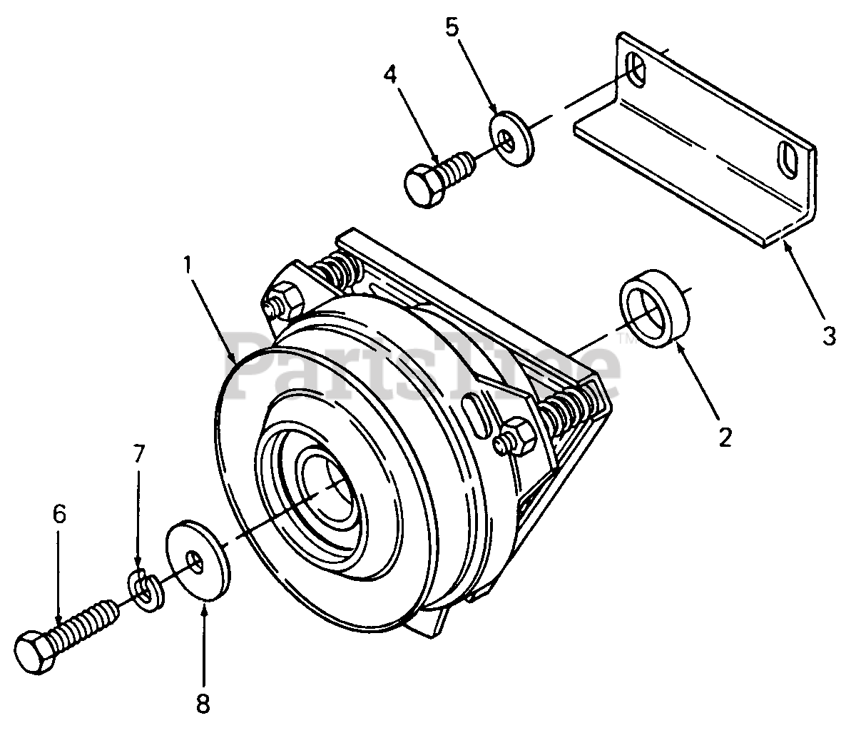 Cub Cadet Parts On The Pto Clutch Diagram For 142
