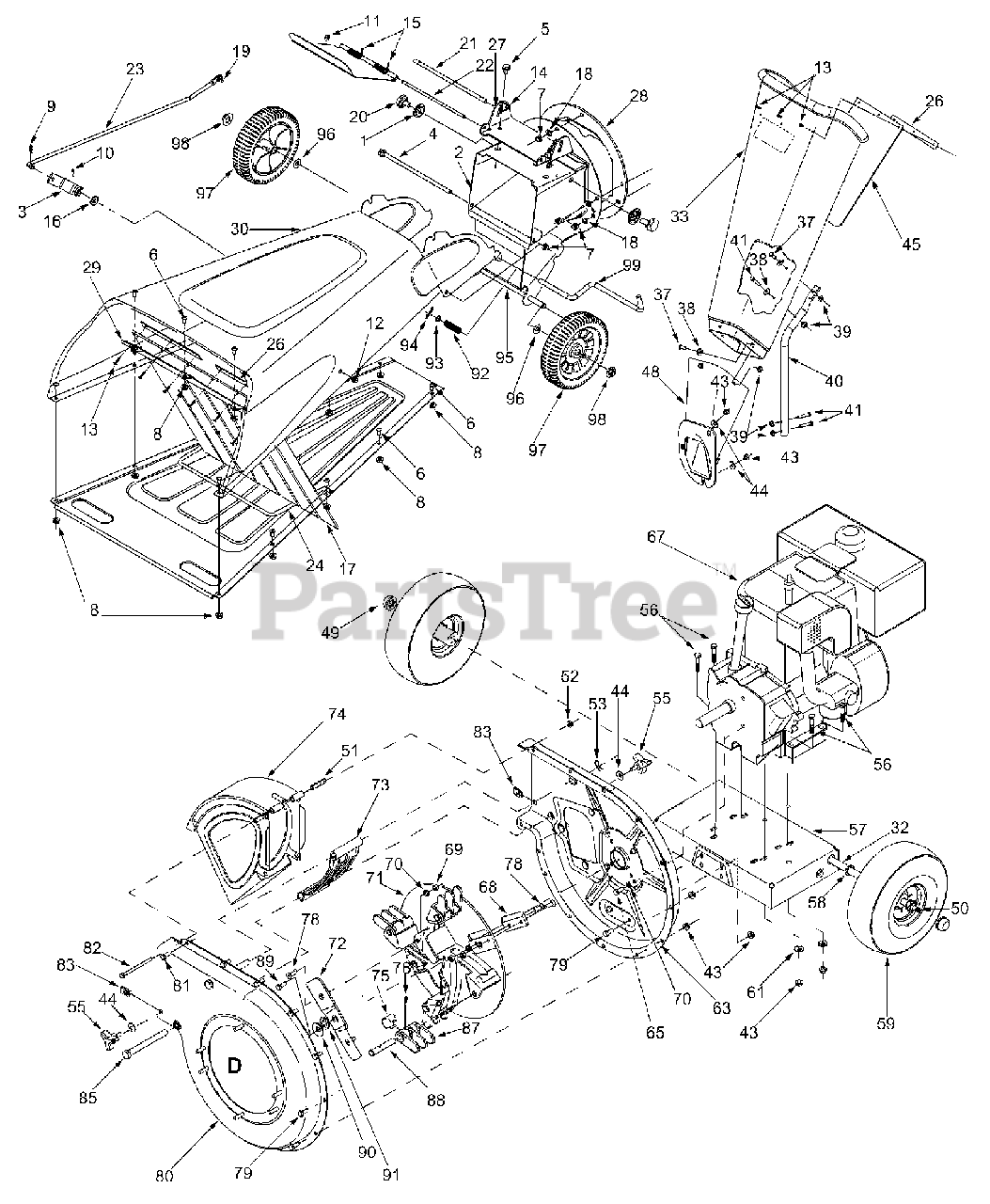 Craftsman Parts on the General Assembly Diagram for 247