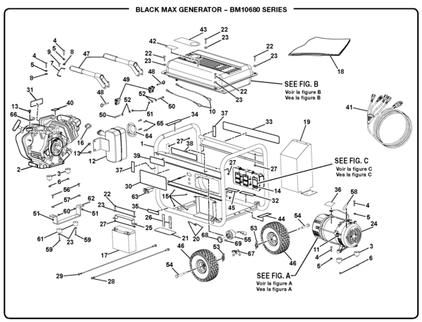 BlackMax BM10680 Generator Parts and Accessories