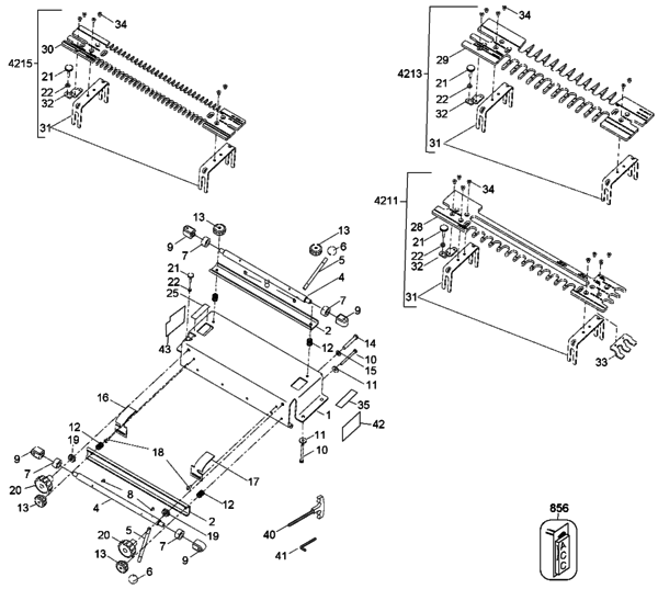 Porter Cable 4210 12-Inch Dovetail Jig (Type 2) Parts and