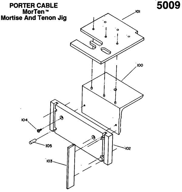 Porter Cable 5009 Jigs Parts| PartsWarehouse