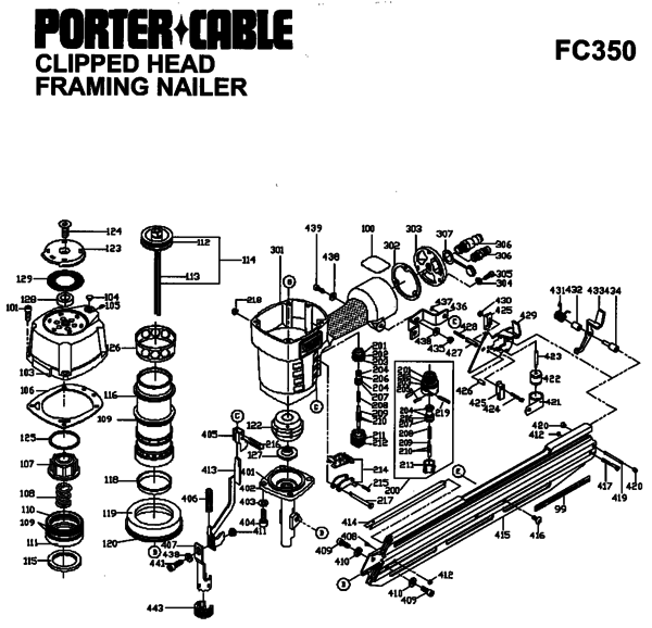 Porter Cable FC350 FC350 Clipped Head Framing Nailer Kit