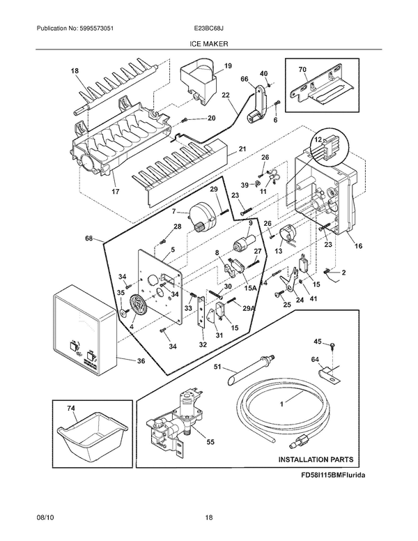 Electrolux E23BC68JSS1 Refrigerator Parts and Accessories
