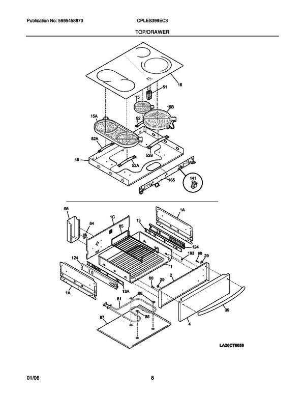 Frigidaire CPLES399EC3 Slide-In Electric Range Parts and