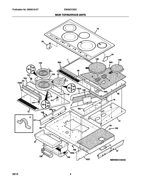 Frigidaire EW36CC55GS3 Range Parts and Accessories at