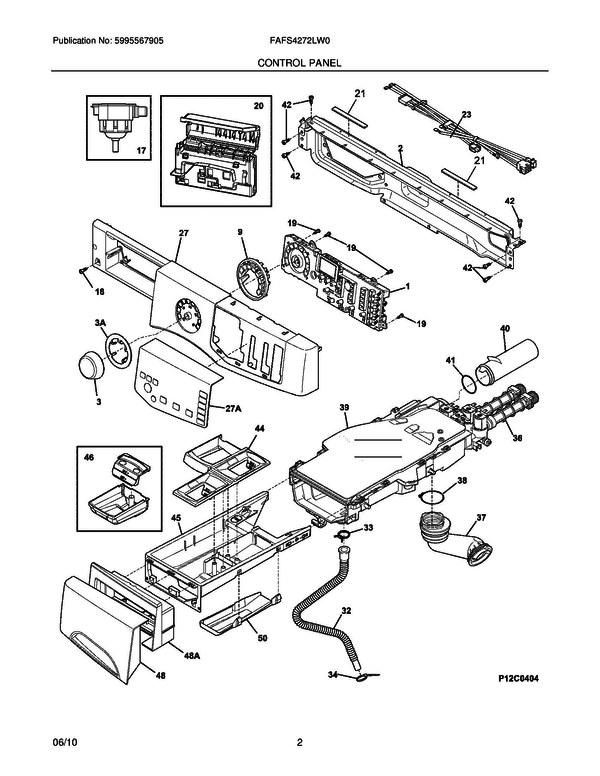 ge front load washer wiring diagram 1998 vw golf stereo frigidaire fafs4272lw0 | partswarehouse