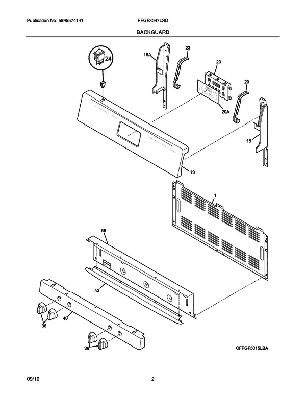 Frigidaire FFGF3047LSD Gas Range Parts and Accessories at