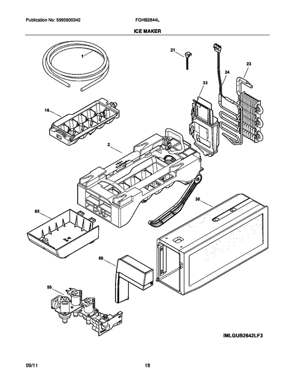 Frigidaire FGHB2844LP7 Refrigerator Parts and Accessories