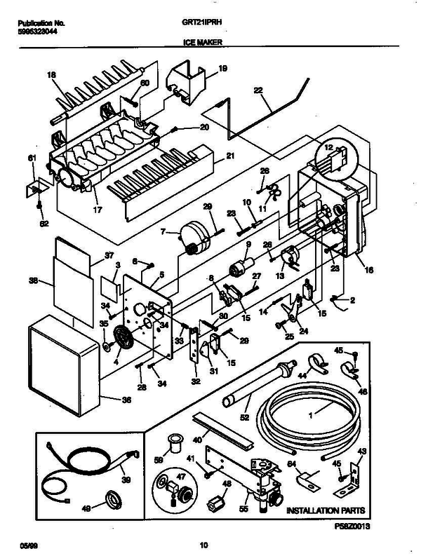 Gibson GRT21IPRHW0 (V2) Refrigerator Parts and Accessories