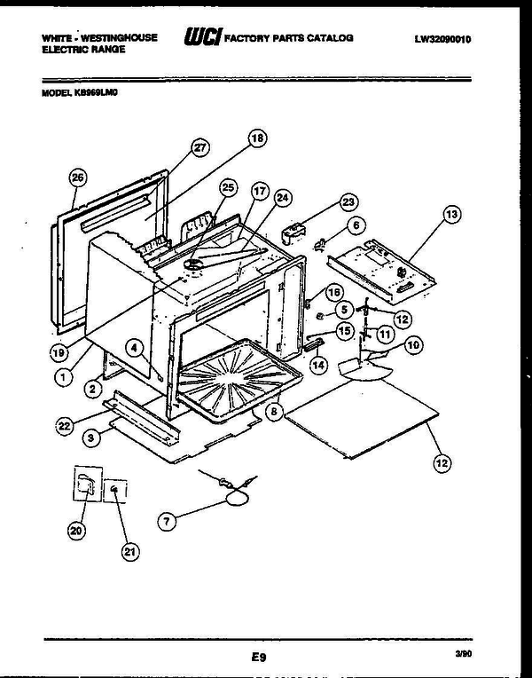 White-Westinghouse KB969LM0 (V1) Electric Range Parts and