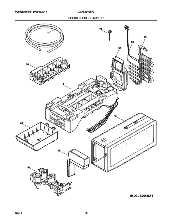 Frigidaire LGUB2642LF3 Refrigerator Parts and Accessories