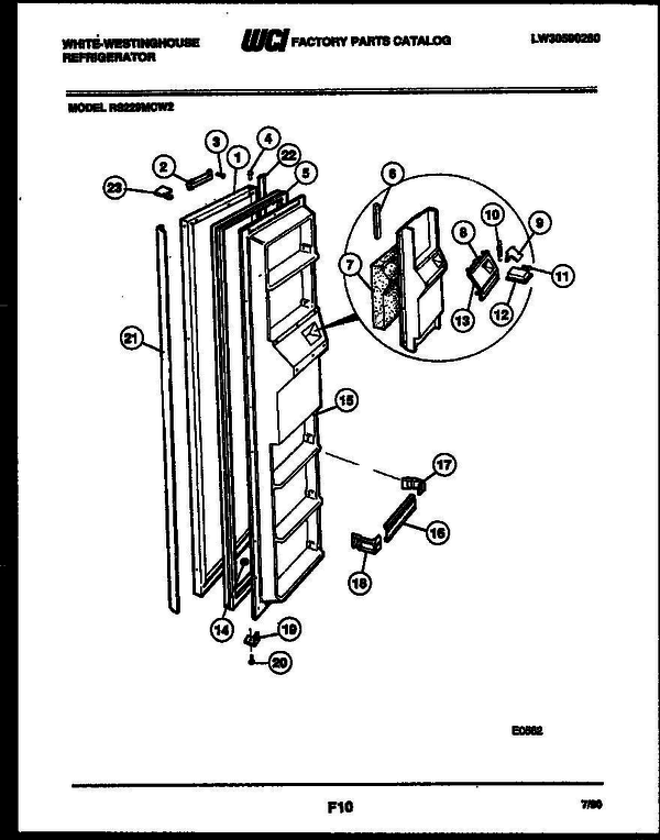 White-Westinghouse RS229MCF2 (V4) Refrigerator Parts and