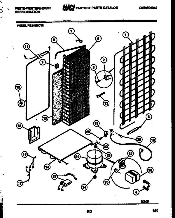 White-Westinghouse RS249MCF1 (V4) Refrigerator Parts and