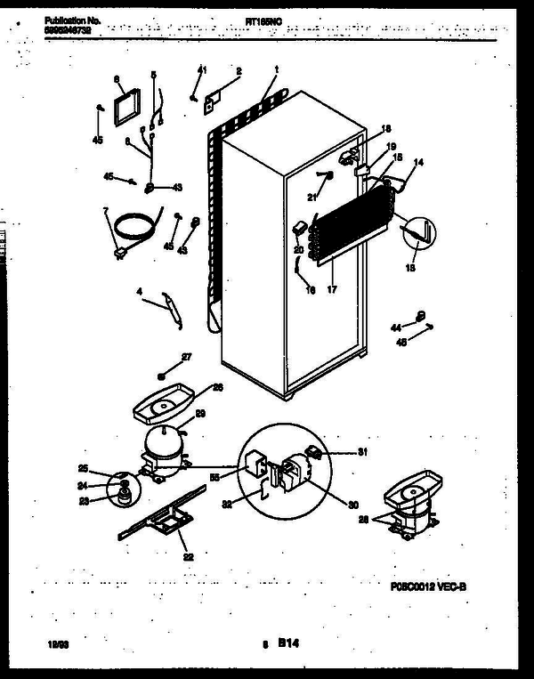 White-Westinghouse RT185NCD2 (V1) Top Mount Refrigerator