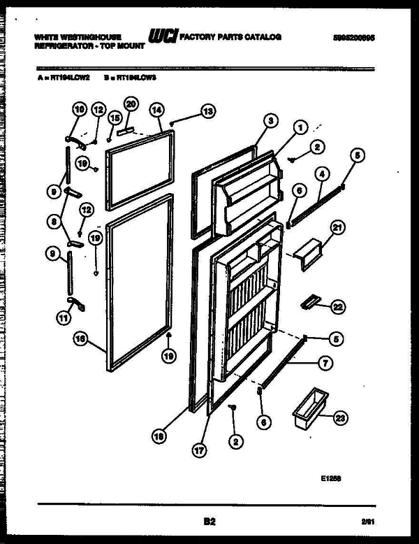 White-Westinghouse RT194LCD2 (V3) Top Mount Refrigerator