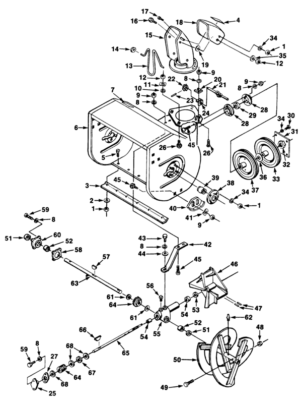 Homelite 624 Snow Thrower UT-35018-A Parts and Accessories